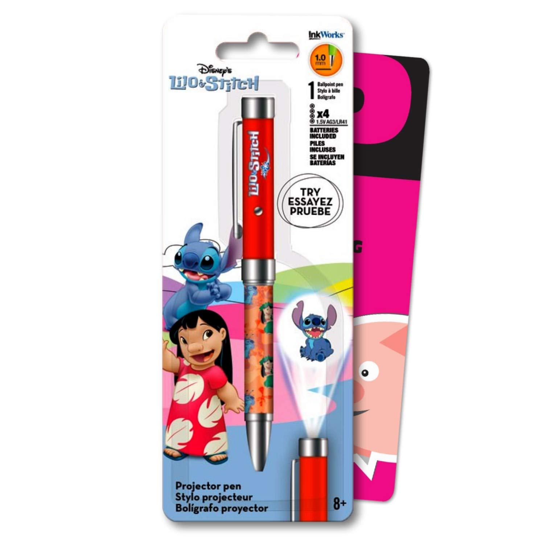 Disney Lilo and Stitch - Bolígrafo con proyector de clic, incluye ...