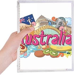 Kangaroo Harbour Bridge Australia Graffiti Notebook Loose-leaf Spiral Refillable Journal