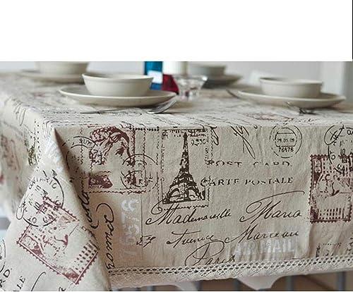 conveniente GUOAI Torre De ImpresióN Mantel De De De Lino De AlgodóN Mantel De Encaje Cubierta De Tabla Cocina DecoracióN para El Hogar,140  250cm  alta calidad