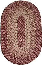 "product image for Constitution Rugs Plymouth 30"" x 50"" Braided Rug in Wine"