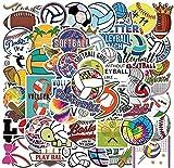 DINGQING 50 pièces Ballon Football Basket-Ball Dessin animé Autocollants Rugby Autocollants Graffiti Valise Casque Bricolage Main Compte Autocollants