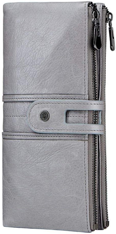 Girls Purse Women's Wallet Ladies Wallet Leather Leisure Large Head Layer Cowhide Female Hand Bag