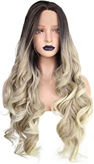 black and blonde ombre wig