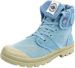 LILICHIC Femmes Bottes Palladium Style Fashion Haut-Haut Militaire Cheville Chaussures Casual Chaussures