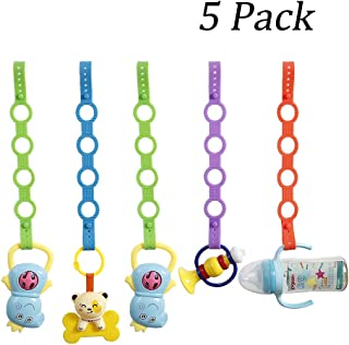 5 Pack Baby Pacifier Clips,Silicone Toy Safety Straps,Sippy Cup Strap for Stroller,High Chair,Cars,Hanging Baskets,5 Pack