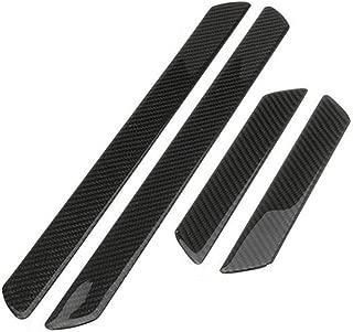 Autogood Car Door Sill Plate Protectors- Universal Carbon Fiber Door Sill Scuff Plate Cover Panel Step Protector Guard 4PCS