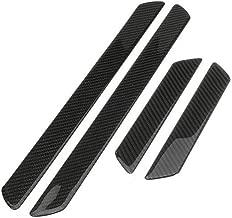 Autogood Car Door Sill Plate Protectors- Universal Carbon Fiber Pattern Door Entry Guards..