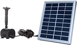 Anself 9V 2W Solar Power Water Pump for Garden Pond Fountain Decorative