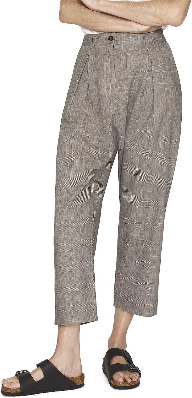 b new york Women's Linen Pleated Harem Pant
