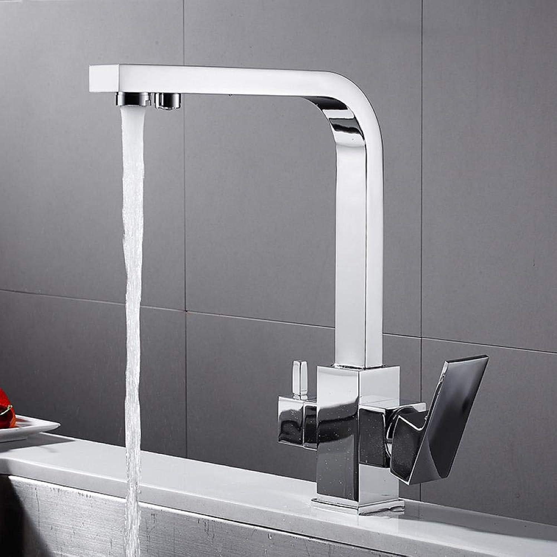 Küchenarmaturen Heie Und Kalte Küche Wasserfilter Doppel Wasserhahn Waschbecken Wasserhahn Drehen Doppel Wasserhahn