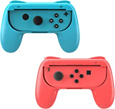 MoKo Grip for Nintendo Switch Joy-Con, 2-Pack Switch Controller Grip Handle Kit for Nintendo Switch Joy-Con (Red and Blue)