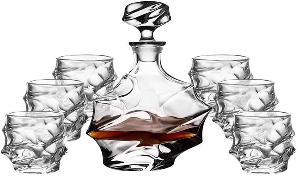 beautiful Whiskey Ranking TOP8 Decanter Whisky Decant 7-Piece Glasses Max 85% OFF