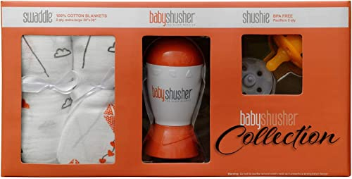 discount Baby outlet online sale Shusher the Sleep Miracle Collection – discount Sound Machine uses Rhythmic Shush to Lull Baby to Sleep-The Perfect Baby Shower Gift – The Quickest Way to Get Baby to Sleep –Swaddles & Pacifiers online