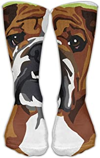 Unisex English Bulldog Pop Art Casual Socks Shoe Size 6-10