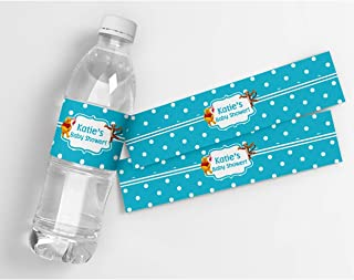 Winnie The Pooh Personalized Baby Shower Waterproof Water Bottle Labels