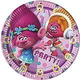 Folat B.V.- 87014 Trolls Platos, pack de 8 unidades, Color rosa (Amscan 7014)