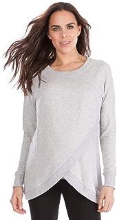 Seraphine Women's Grey Marl Crossover Maternity & Nursing Sweater