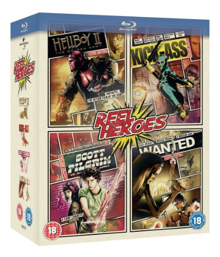 Wanted (2008) / Kickass / Scott Pilgrim Vs The World / Hellboy 2 [BLU-RAY] (18)