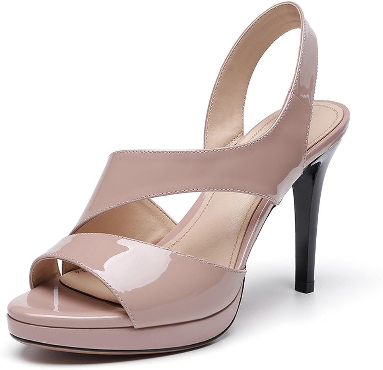 MEIREN sandal Meiren Summer Fish Mouth High Heel Women Waterproof Platform Fashion Ladies Stiletto Sandals Apricot