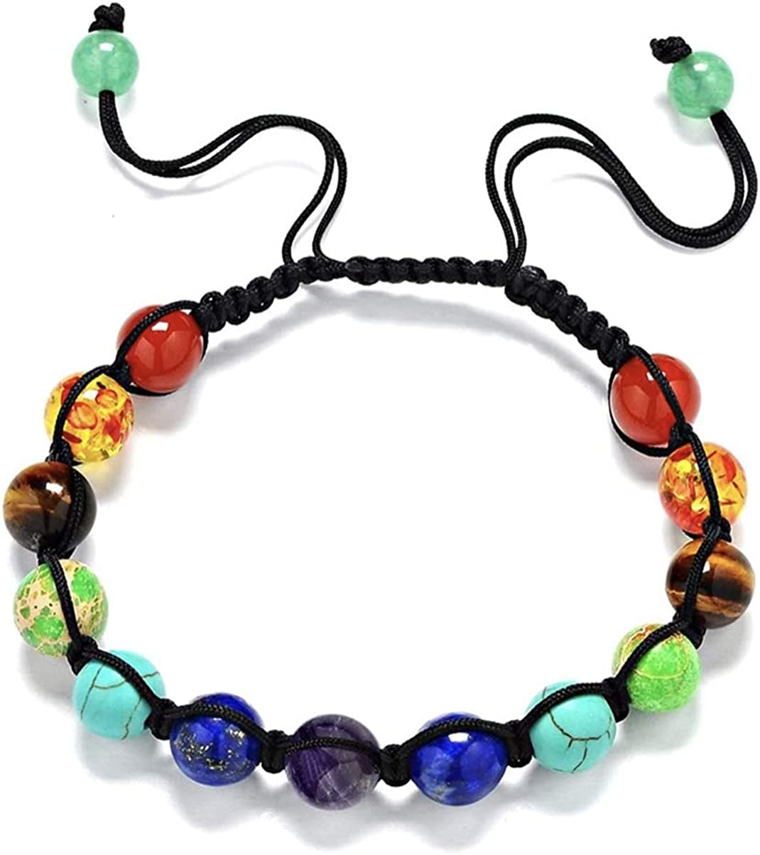 MARBEN'S Top Handmade 7 Chakra bracelet Healing Crystal Meditation Relax Anxiety For Women's and Mens