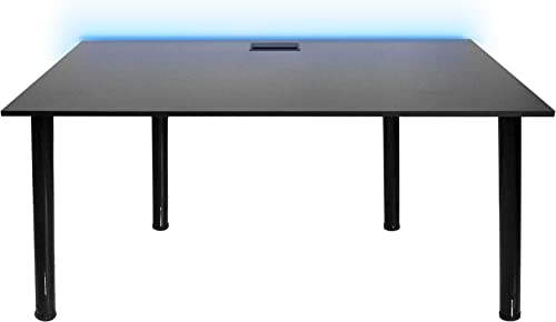 SyberDesk Gaming desk Bureau Gaming pour les Gamers - Ordinateur Bureau de Jeu avec LED pour Les Joueurs, Bureau à Do...
