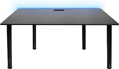 SyberDesk Gaming desk Bureau Gaming pour les Gamers - Ordinateur Bureau de Jeu avec LED pour Les Joueurs, Bureau à Domicile