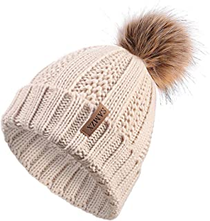 double pom pom knit hat