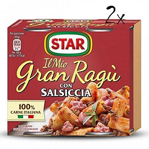 2x Il mio Gran ragu Star salsiccia tomatensauce 2x 180g sauce mit Würst