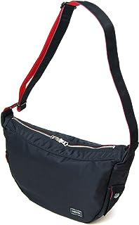 ポーター エルファイン 【PORTER L-fine】 PORTER×ILS共同企画 ラウンドショルダーバッグ Round Shoulder Bag 【LYD383-06693】 ブラック 裏地=レッド Black Backing=Red