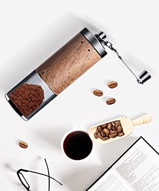Coffee Grinder Manual Without the Danger of Electricity,Household Small Portable Coffee Grinder , Ceramic Grinding Core,Foldi