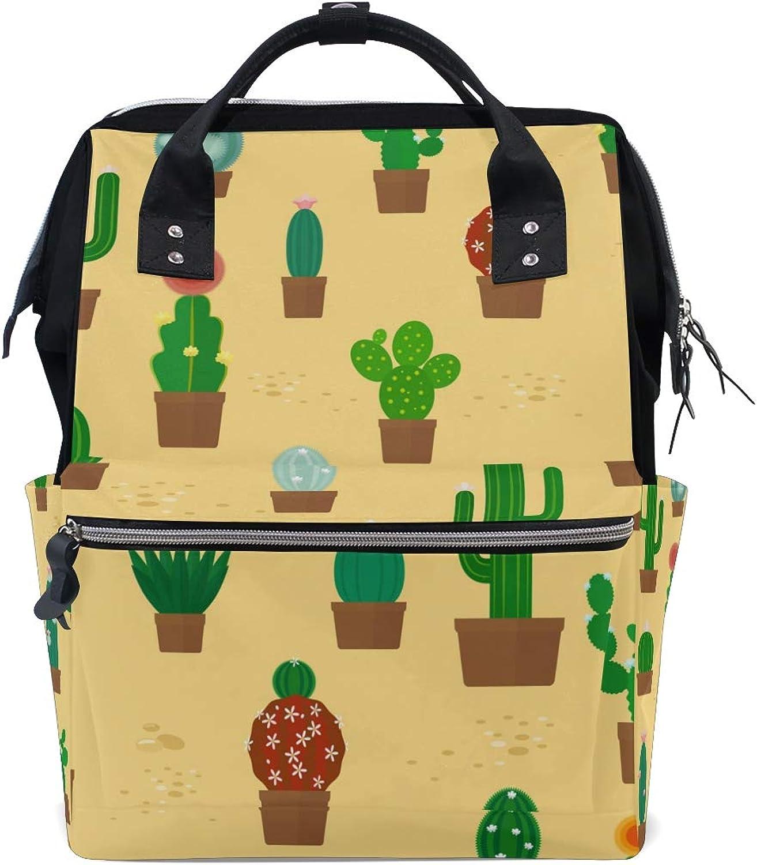 5ecbeb5e21cb Backpacks Cactus Pattern Bag Canvas Daypack School FANTAZIO ...