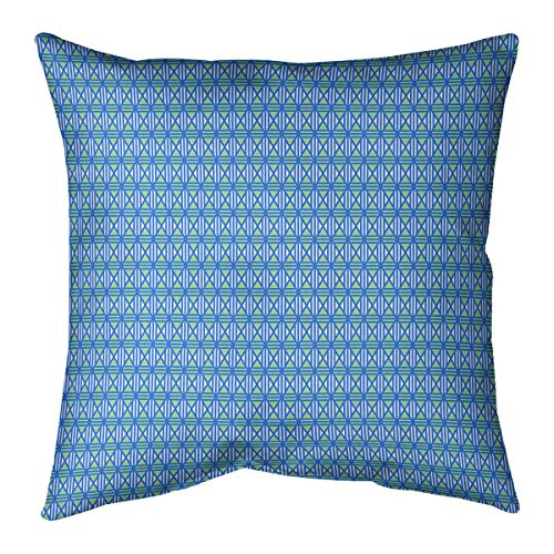 ArtVerse Katelyn Smith New York Outline 14 x 14 Pillow-Faux Linen Double Sided Print with Concealed Zipper /& Insert Updated Fabric