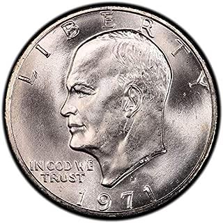 1971 S 40% Silver Eisenhower Dollar Gem Uncirculated US Mint