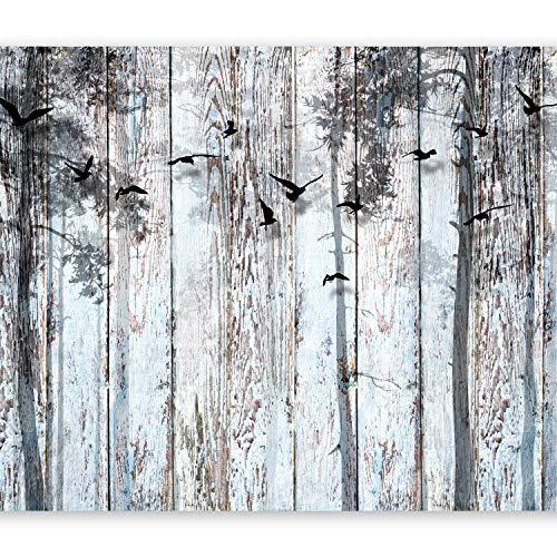 murando Fotomurales ópticamente madera 350x256 cm XXL Papel pintado tejido no tejido Decoración de Pared decorativos Murales moderna de Diseno Fotográfico Vintage bosque f-C-0187-a-a