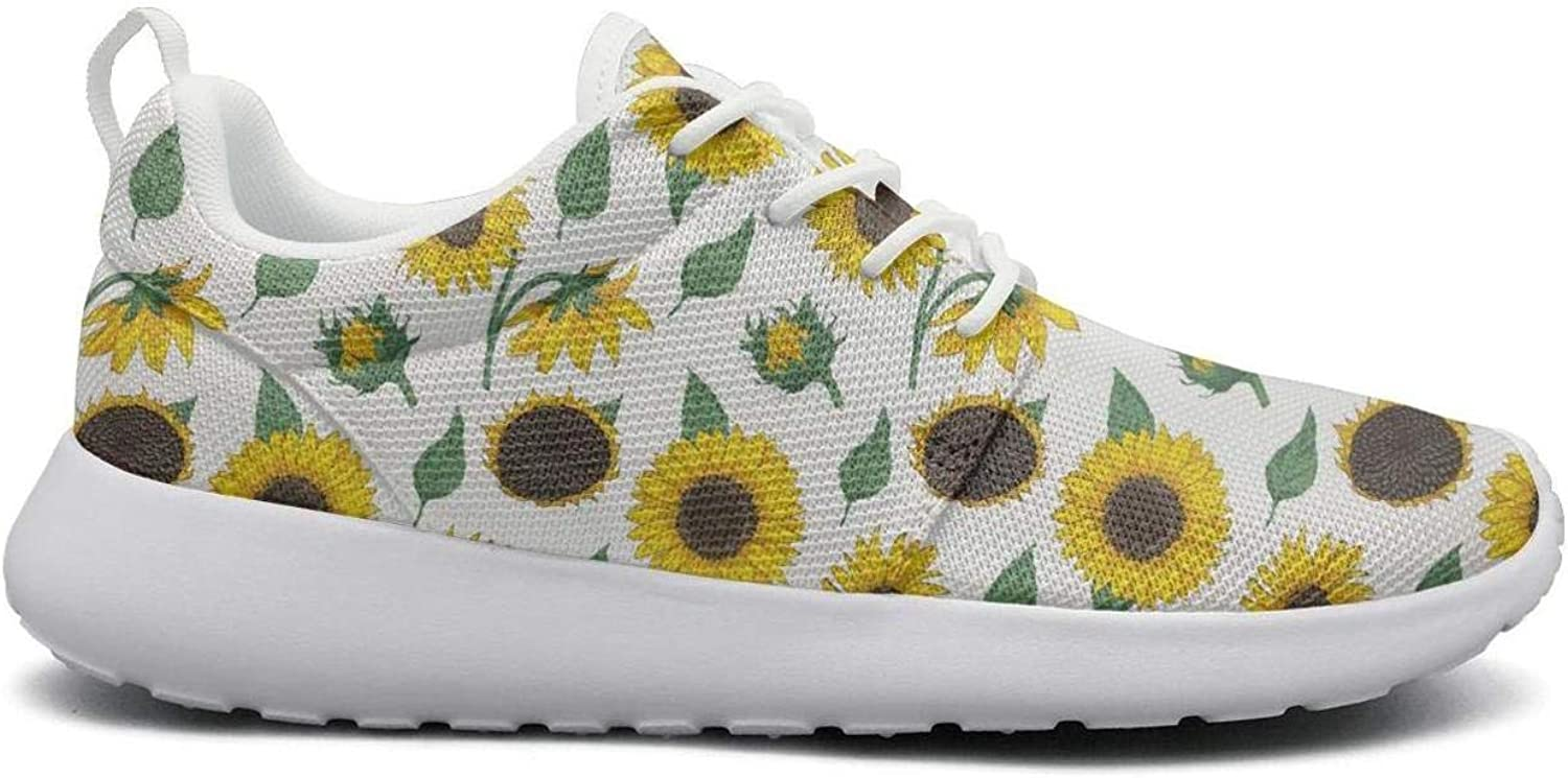 Wirksep Daisy Daisies Flowers Womens Fashion Lightweight Outdoor shoes Sneakers Soft Rubber