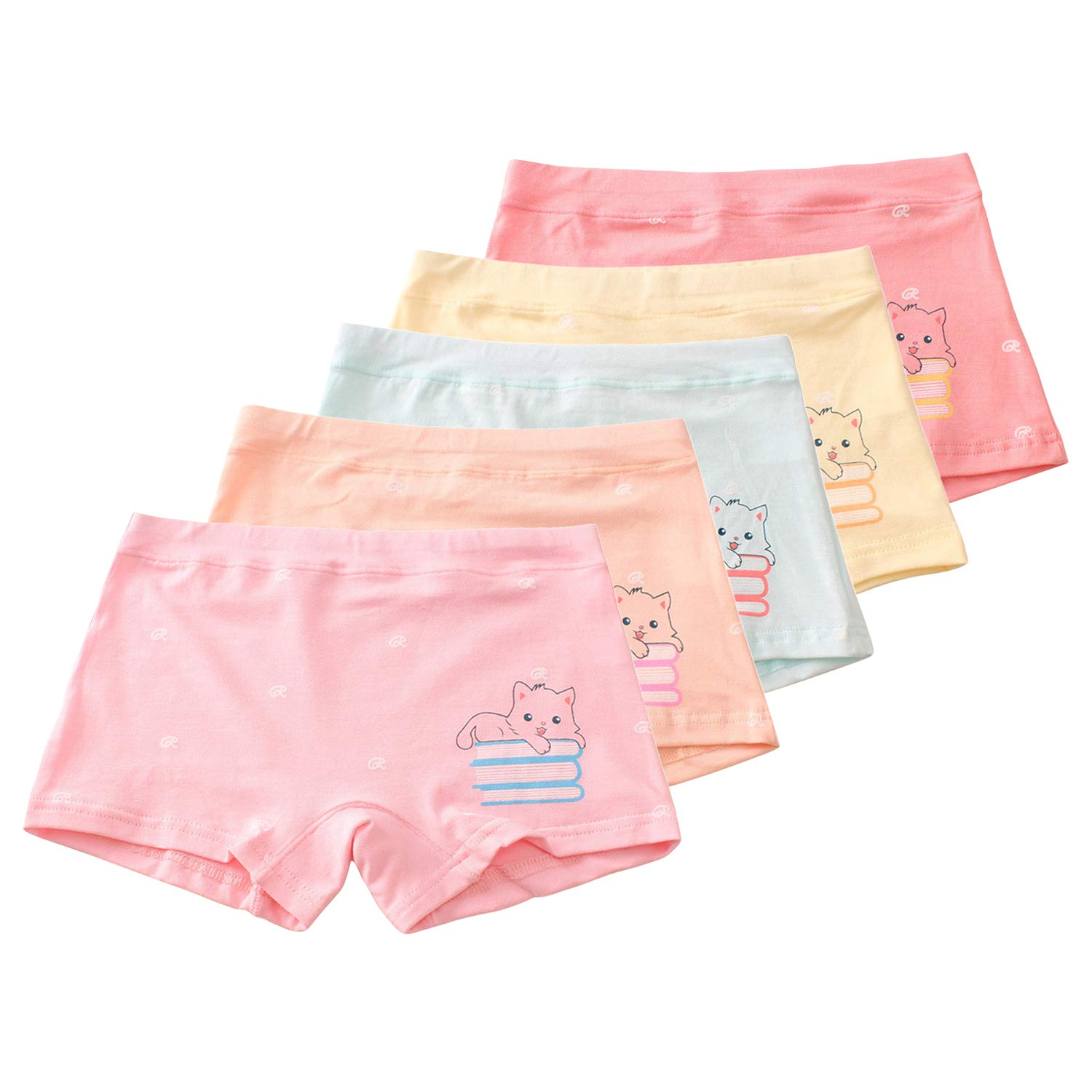 Different Motifs Sizes 2-13 Years Pack of 10 LOREZA /® 10 Pack Girls Briefs Underwear Cotton