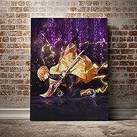 WYXC フルラウンドドリルクロスステッチ悪魔家の装飾ダイヤモンド画像アニメ役割刺繍絵画壁アート40×50センチ