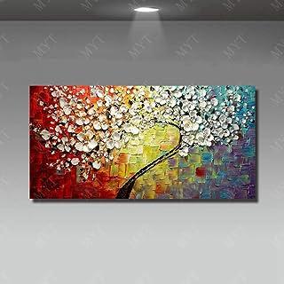 100/% dipinto a mano acrilico dipinto mano Muro ARTE Immagine Tela albero dei soldi