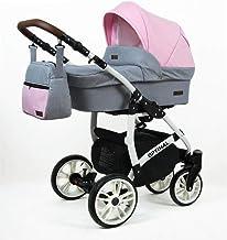 Cochecito de bebe 3 en 1 2 en 1 Trio Isofix silla de paseo Maximum W by SaintBaby Light Pink 2in1 sin Silla de coche
