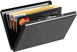 RFID Credit Card Holder Protector Slim Metal Business Card Case for Women or Men