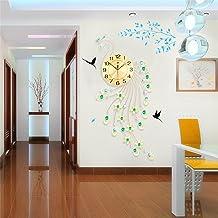 TOYM-Peacock Clock Creative Modern Minimalist European Mute Quartz Living Room Large Wall Clock