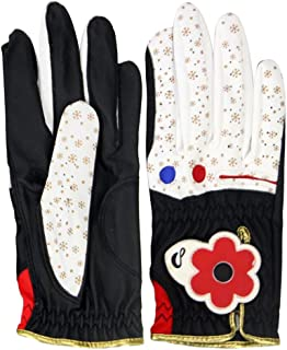 Prettyia Fashion Women Golf Gloves (1 Pair - Left & Right) - Breathable, Super Grip, Non-Slip, Lightweight, Comfortable, Adjustable