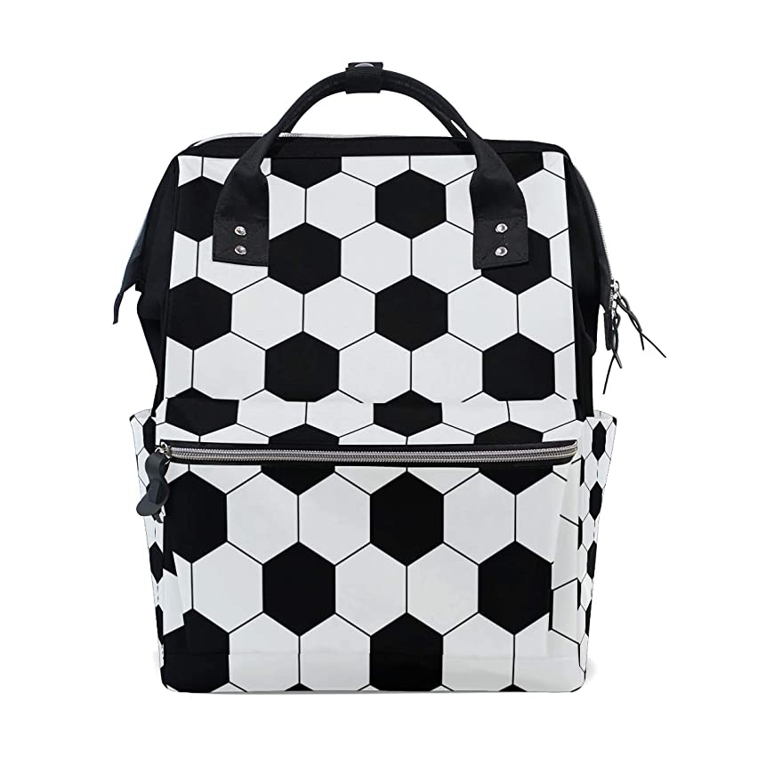 Soccer Football Texture School Backpack Large Capacity Mummy Bags Laptop Handbag Casual Travel Rucksack Satchel For Women Men Adult Teen Children