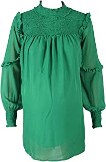 M4M Fashion Maternity Blouses For Women - Green - Medium