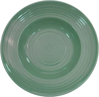 CAC China TG-3G Tango 9-Ounce Green Porcelain Pasta Bowl, 9-Inch, Box of 24