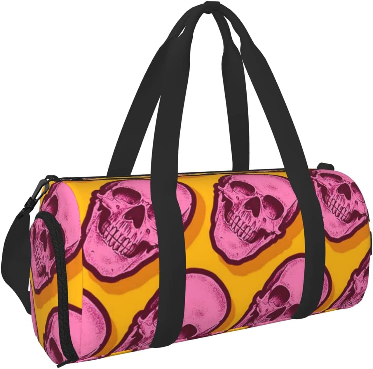 Kenaat Pink Skull Sports Gym Bag Separated Dry Spring new Ranking TOP3 work one after another With Wet Duff