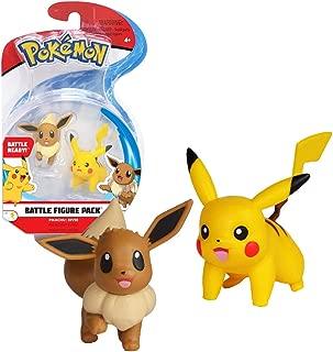 Bandai - Pokémon - Pack de 2 figurines 3-5 cm - Pikachu & Evoli - 82843