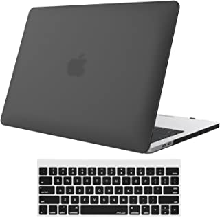 MacBook Air 13 Case A1369 and A1466, ProCase Rubberized Hard Case Shell Cover with Hollow Out Silicone Keyboard Skin Cover for Apple Macbook Air 13 Inch(Models: A1369 and A1466) –Black