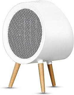 ZRSA Calefactor Eléctrico Cerámico PTC Portátil 800W, Ventilador de Calefactor Personal, Protección de Sobrecalentamiento y Volcado, Viento Caliente o Natural