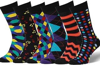 6 PR Calcetines Estampados Hombre, Calidad Europea